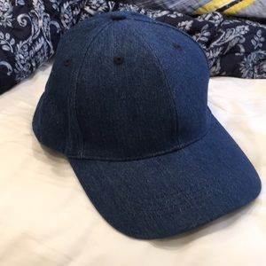 Denim baseball hat